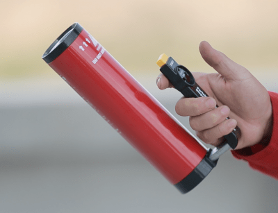 Firepal fire extinguishers use nanoparticle technology and work on all common fire types